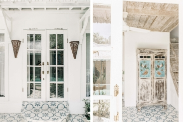 The Roost - White and blue detailing throughout